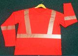High Vis Poly Cotton Long Sleeve T-Shirt