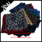 Mens Fashion Custom Print Wool Pocket Square