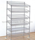 6-Layer Portable Anti-Static Wire Shelving for Industrial Use