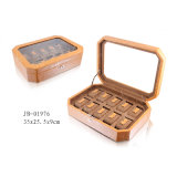 New Design PU Leather MDF Storage Packing Wooden Box Watch Case