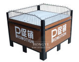 Exhibition Stand Promotion Table with Guardrail for Shop/Grocery/Retail