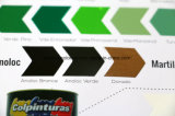 Different Shape of Matt/Gloss Paint Color Chip Sample
