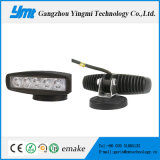 Single Row 18W LED Work Light with Long Lifespan