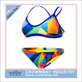 Open Hot Sexy Women Bikini Swimwear with Sublimation Printing