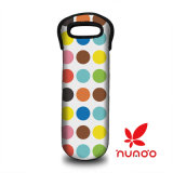 Bottle Neoprene Wine/Water Bottle Tote Colorful Dots