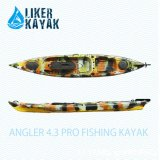 Angler 4.3 Liker PRO Fishing Kayak Sit on Top with Function Seat, Available to Added Motor