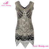 High Quality Sleeveless Sequin Formal Gown Evening Dress