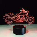 3D Design Motorcycle Shape Night Light Home Decoration Color-Changing Atmosphere Lamp with USB Charger