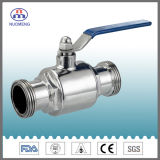 Idf Stainless Steel Maled Threaded Straight Ball Valve with Handle