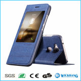 Window View Leather Flip Case for Samsung Galaxy Phone