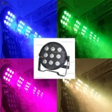 Hot Selling 9 LEDs 10W RGBW 4in1 Plastic Flat Super Slim Stage PAR64 Light