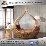 Well Furnir PE Wicker Round Luxury Outdoor Sofa Bed T-080