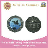 Metal Antique Silver 3D Coin, Offset Printing Badge