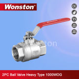 Stainless Steel Heavy Type 2PC Ball Valve 1000wog