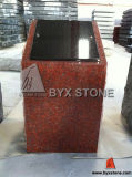 Red Granite Single Cremation Columbarium / Memorials