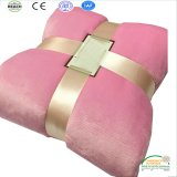 Customize Blanket Customer Made Label Promotional Blanket with Ribbon Packing