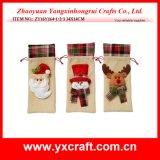 Christmas Decoration (ZY16Y164-1-2-3 34X14CM) Vigorous Christmas Wine Bag
