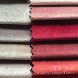 Short Pile Velour Shiny Polyester Fabric for Sofa