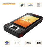 Industrial 4G Smartphone with Fingerprint Sensor/RFID Reader/Touch Screen Handheld PDA Barcode Scanner