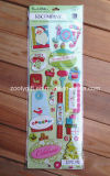 Handmade Paper Craft Scrapbooking Embellishments Holiday Glitter Adhesive Dimensional Stickers