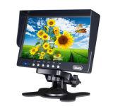 "Hot Sale Car Use AV Input 7"" Inch 4 Quad CCTV LCD Monitor"