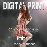 Digital Print on Cashmere for Design Scarf Fabric (X1115)