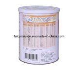 750g Milk Powder Metal Tin Can with PE Plastic Cover