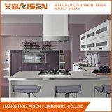Modern Grey Wood Venner Modular Kitchen Cabinet