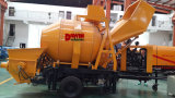 30m3/Hour CE Quality Trailer Mounted Lovol Diesel Engine Concrete Pump with Mixer on Sale