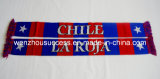 Knitted Jacquard Scarf; Football Scarf. Soccer Scarf-Chile Scarf
