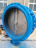 Double Flanged Connection Concentric Butterfly Valve with Ce ISO Approve