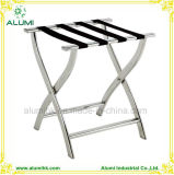 Stainless Steel Luggage Rack with Straps for Hotel Home School