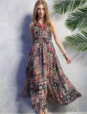 2015 Hottest Bohemia Chiffon Slim Fit Floral Maxi Dress