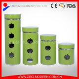 Nice Stylish Stainless Steel Jar Glass Storage Jar with Lid