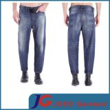 an Amphora-Cut Design Men Trucker Carrot Shape Jeans (JC3329)