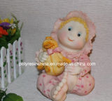 Promotional Moeny Boxes with Girl Statue, Polyresin Baby Coin Bank