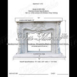 White Carrara Fireplace Surround for Decoration Mfp-359