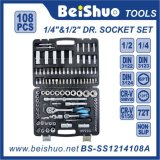 108 PCS 1/4′′ 1/2′′dr. Cr-V Hand Tools Socket Set