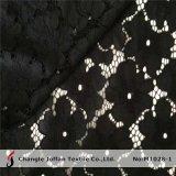 Hot Sale Black Flower Lace Fabric (M1028-1)