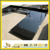 Natural Black Galaxy Laminate Granite Stone Countertops for Kitchen/Bathroom