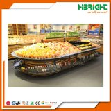 Wooden Supermarket Hypermarket Fruits and Vegetables Display Racks