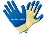 13G Blue Polyester Shell Crinkle Latex Palm Coating Glove