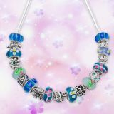 925 Silver Blue Necklace (C109)