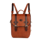 China Factory Wholesale Fashion Design Leather Bag School Backpack for Girls