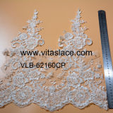Beaded Rayon Lace Trim for Lady Gown Vlb-62160cp