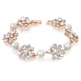 Popular Element Pearl Stone Bracelet with Crystal