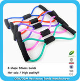 China Factory Workout Natural Elastic Latex Fitness Resistance Band Tube