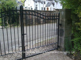 French Style Ancient Wrought Iron Doors