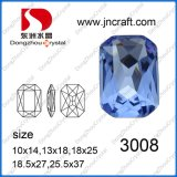 Point Back Octagon Crystal Bead for Wedding Dress