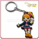Fashion Style Embossed Printing Soft PVC Keychain